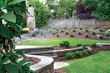 Area being irrigated (Photo: Horizon Landscape Co.)