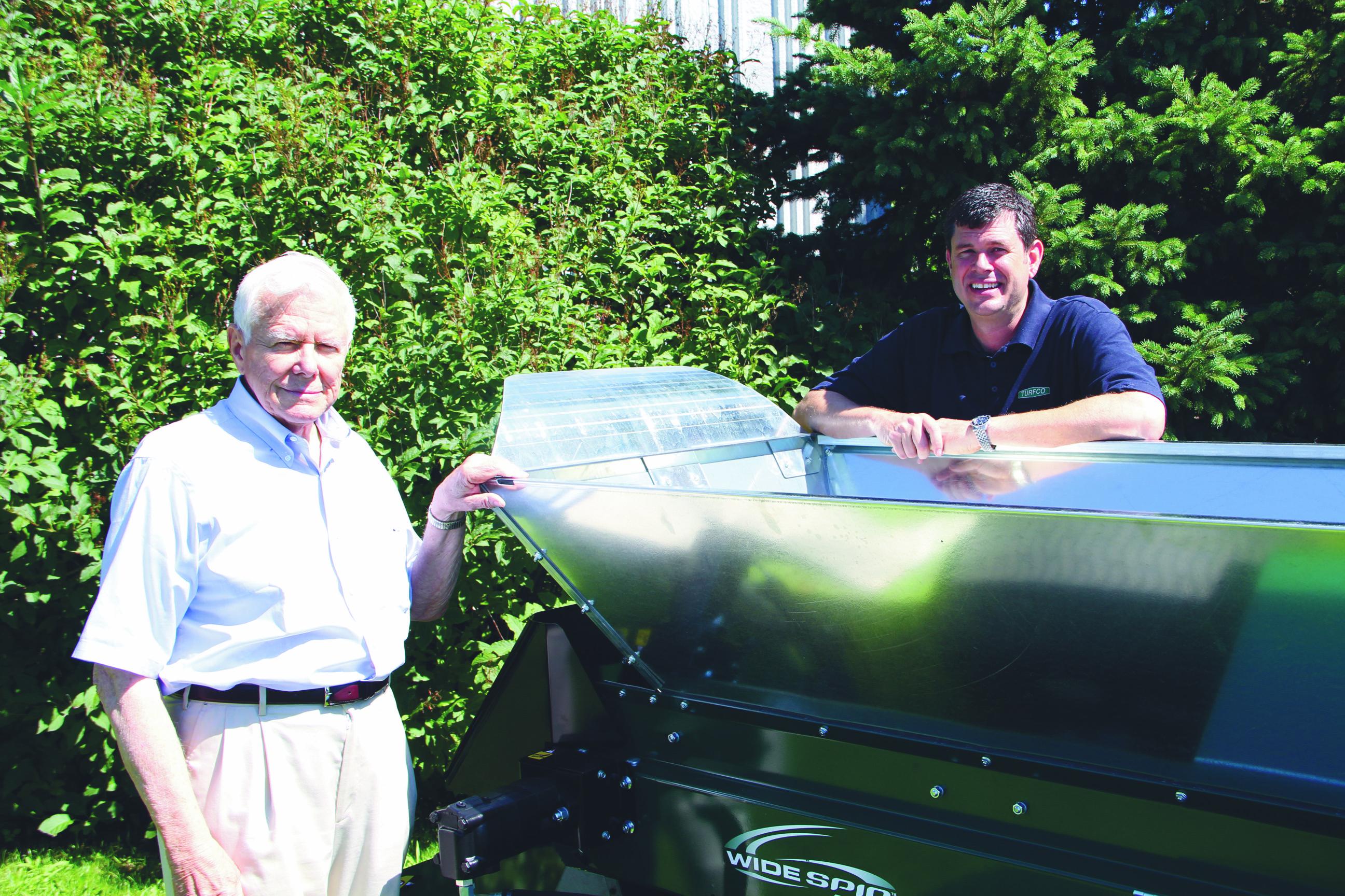 John Kinkead Sr. (left) with son Scott Kinkead. Photo: Seth Jones