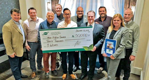 Clintar held a fundraiser and donated $30,000 in 2018 to Make-a-Wish Canada. (Photo: Clintar Commercial Outdoor Services)