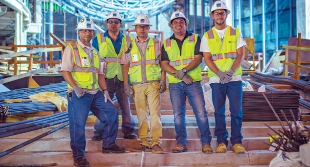 The dedicated safety team at Park West ensures crews get home safely every day. (Photo: Park West)