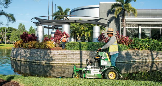 Paths of motion ensure no areas are skipped or maintained twice in one visit. (Photo: Ameriscape Services)