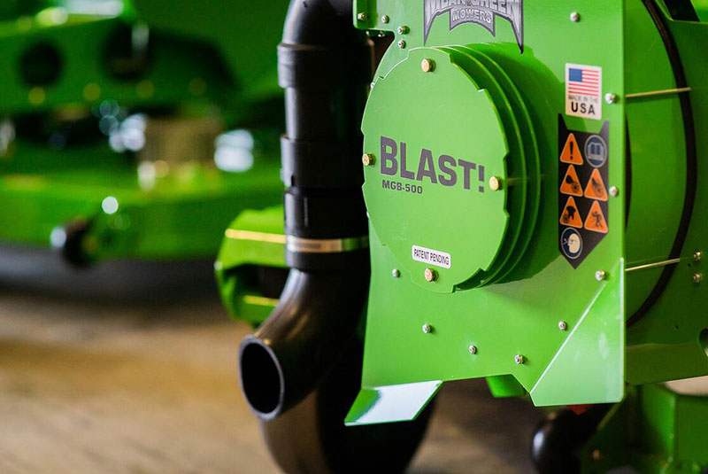 Please Mean Green Mowers' vehicle mounted battery powered blowerFill Out The Following Fields.