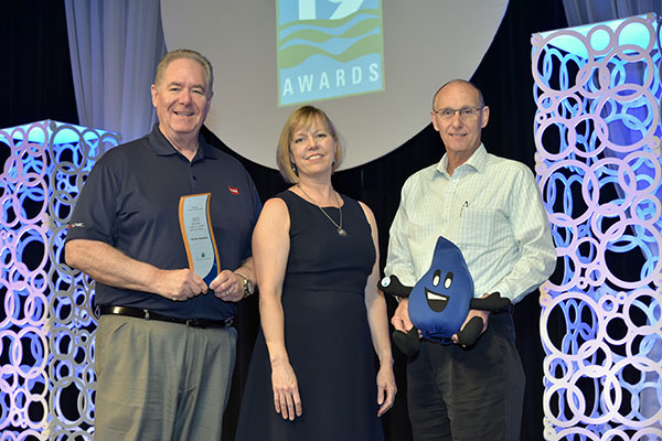 L to R: Rob Starr, water management consultant, Toro Irrigation and Lighting Business; Martha Shimkin, acting deputy director, U.S. EPA Office of Wastewater Management; Chris Davey, product marketing manager, Toro Irrigation and Lighting Business. (Photo: Toro)
