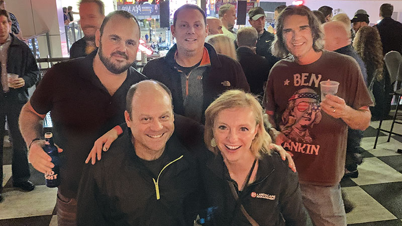 Is there an Echo in here? LM Editor Christina Herrick caught up with Echo Marketing Manager Ken Osberg (left), Product Manager Jason Wilk (back left), Vice President, Marketing and Product Management Wayne Thomsen and Product Manager Ben Moskalik. Photo: LM Staff