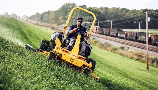bSAFE STEERING/bFour-wheel steering helps turn the machine in any direction. Photo: Cub Cadet