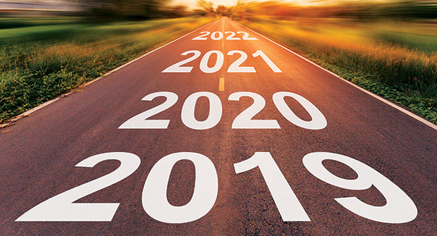Roadmap with the years 2019-2022 (Photo: tortoon/iStock / Getty Images Plus/Getty Images)