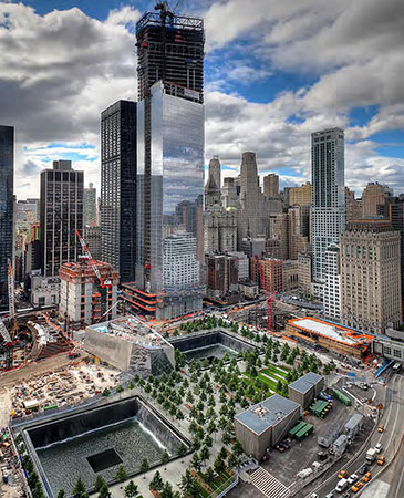 Construction of 9/11 Memorial (Photo courtesy of PWP Landscape Architecture)