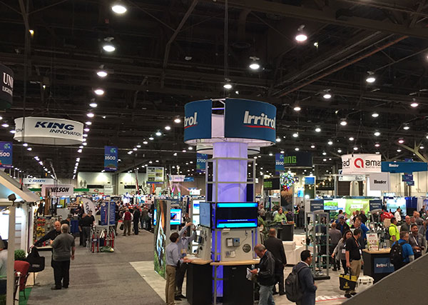 The trade show floor at the Irrigation Show saw a lot of traffic throughout the event. (Photo: LM Staff)