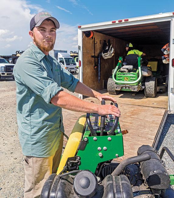 Josh Willis of Greenscapes Land Care, Worton, Md.(Photo: Tony Ventouris, tonyventourisphotography.com)