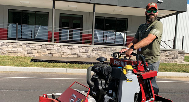 At Briggs & Stratton's facility in Sherrill, N.Y., Richey Plemons saw firsthand how Ferris machines are built. He credits the opportunity to the nearly 7,000 followers of his YouTube channel. (Photo: Richey Plemons)