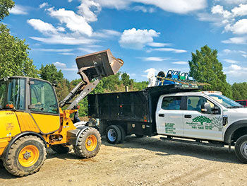 Loader and Greensweep truck (Photo: Greensweep)