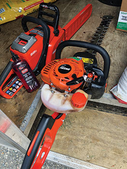 Battery-powered handheld equipment (Photo: Bedell Property Management)