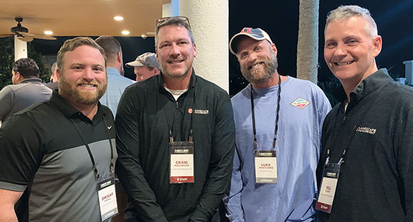 Dwight Bizzell, Craig MacGregor, Luke Hawthorn, Bill Roddy (Photo: LM Staff)