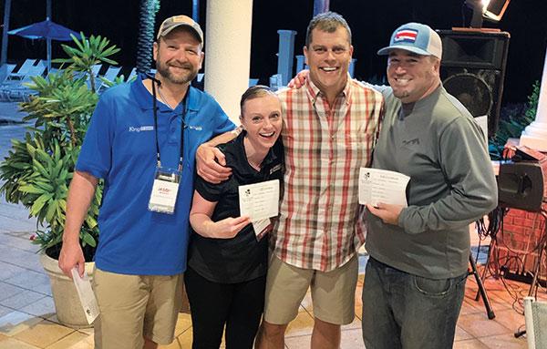 Jason Bishop, Christina Herrick, Jud Hudnut, Mike Depriest (Photo: LM Staff)