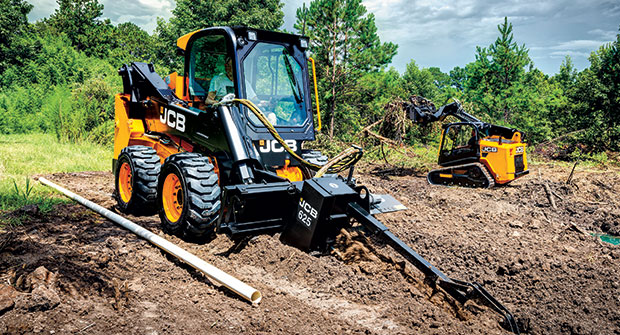 Trencher in action (Photo: JCB North America)