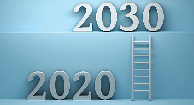 Ladder from 2020 to 2030 (Photo: DariaRen/iStock / Getty Images Plus/Getty Images)
