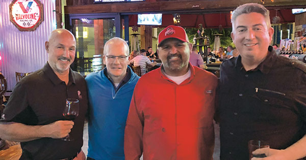 Jeffrey Knapp, The Plant Food Co.; Mike Janzer, The Plant Food Co.; Todd Burger, Green Blade Irrigation and Turf Care, Magnolia, Del.; Seth Jones (Photo: LM Staff)