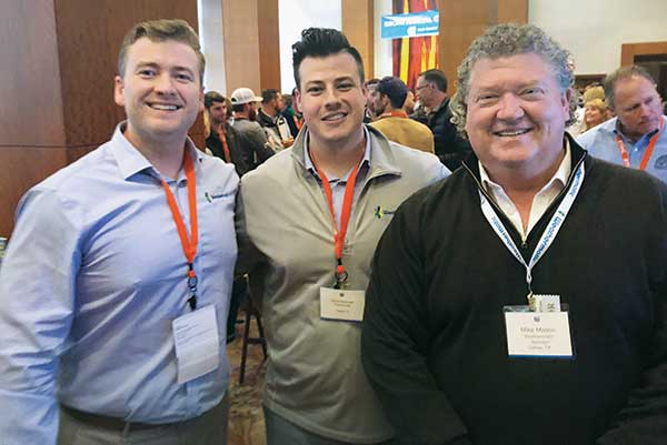 Lex Mason, David Buchner and Mike Mason at Grow! 2020 (Photo: LM Staff)