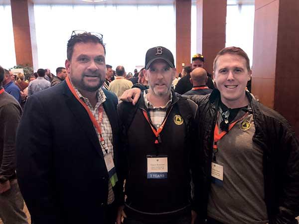 Chris Joyce, David Bowman and Mike Burt at Grow! 2020. (Photo: LM Staff)