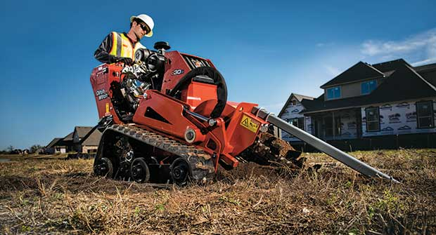 Man using Ditch Witch trencher (Photo: Ditch Witch)
