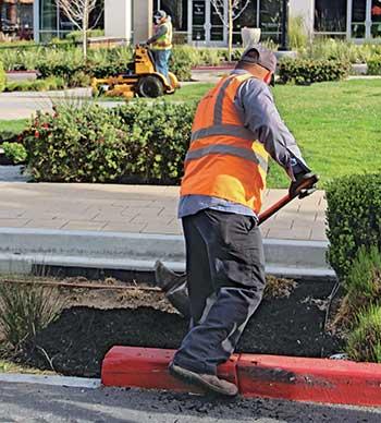 Landscaper working (Photo: LM Staff)