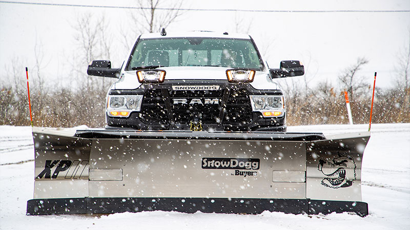 The SnowDogg XPII expands from an 8-foot plow to a 10-foot plow. (Photo: Buyers Products)