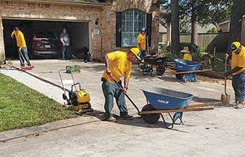 Grounds Guys crews performing work (Photo: The Grounds Guys of League City)