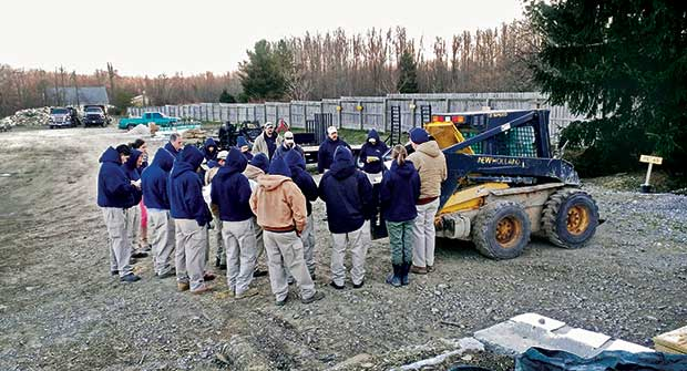 Skid-steer training session (Photo: The Pattie Group)