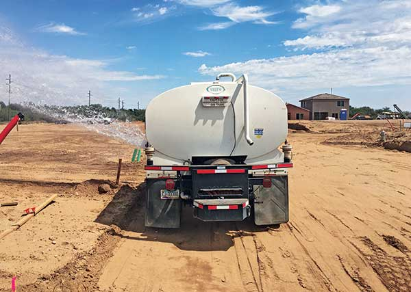Watering truck (Photo: Santa Rita Landscaping)