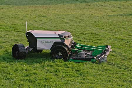 Graze autonomous, electric mower (Photo: Graze)