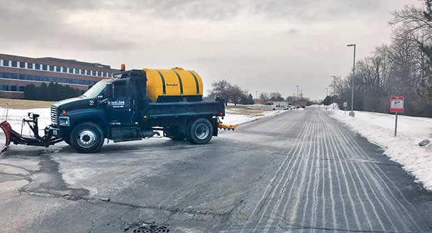 Liquid brine truck (Photo: David J. Frank Landscape Contracting Inc.)