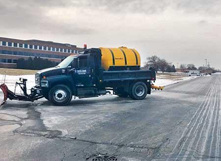 Liquid brine truck (Photo: David J. Frank Landscape Contracting Inc.)