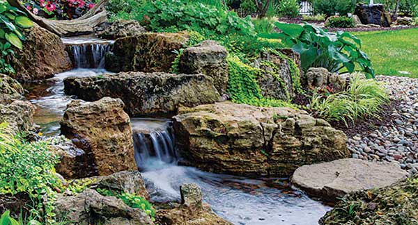 Water feature (Photo: Aquascape Construction)
