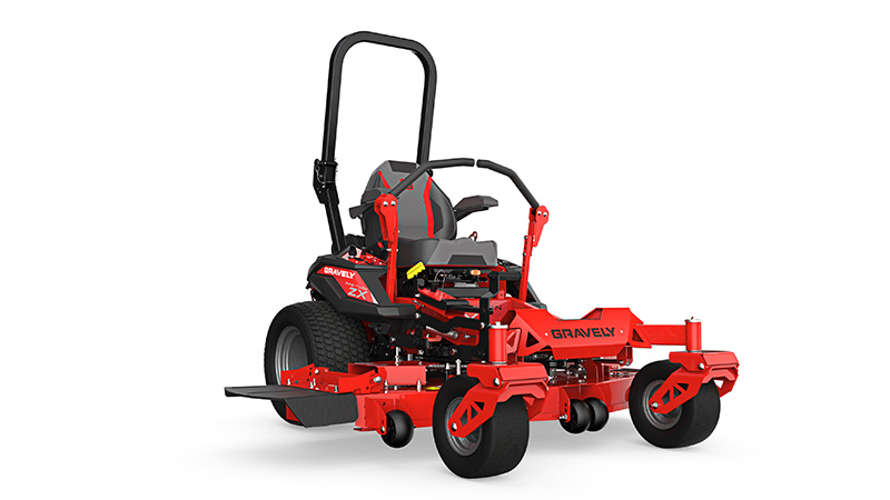 Gravely's Pro Turn ZX model comes with a new suspension seat which absorbs the smaller vibrations in addition to the larger impacts. (Photo: Gravely)