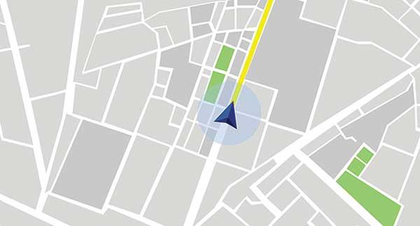 Map with GPS coordinate (illustration: reklamlar / DigitalVision Vectors / Getty Images)