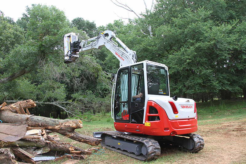 TB370 compact hydraulic excavator is in the 6- to 7-ton class. (Photo: Takeuchi-US)