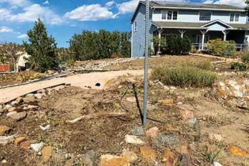 Yard needing irrigation (Photo: Weisburg Landscape Maintenance)