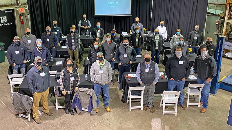 25 landscape professionals got an inside look at Grunder Landscaping Co. during its Fall Field Trip. (Photo: The Grow Group)