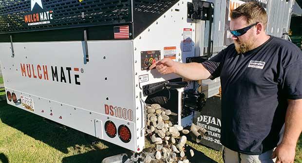 Handling material using Mulch Mate equipment (Photo: Mulch Mate)