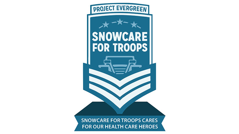 (Logo: SnowCare for Troops)