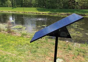 Pond aeration (Photo: Linne Industries)