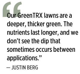 Justin Berg on GreenTRX (Graphic: LM Staff)