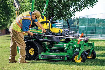 John Deere offers a tool carrier to attach to mowers. (Photo: John Deere)