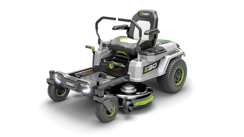 Ego's new Z6 42-inch Z6 zero-turn is the equivalent of a 22-horsepower gas mower. (Photo: Ego)