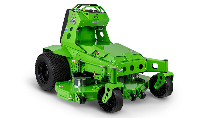 Mean Green Mowers' Vanquish is a new lithium-ion electric stand-on mower. (Photo: Mean Green Mowers)