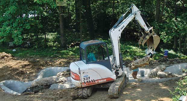 Bobcat skid-steer (Photo: Frisella Landscape Group)