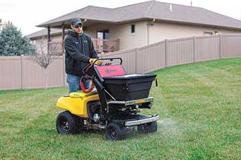 Spray equipment with foam turf markers (Photo: Z Turf Equipment)