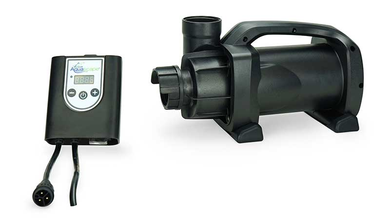 Aquascape's new SLD 2000-5000 adjustable flow pond pump offers wireless control and customized scheduling through the Smart Control app. (Photo: Aquascape)