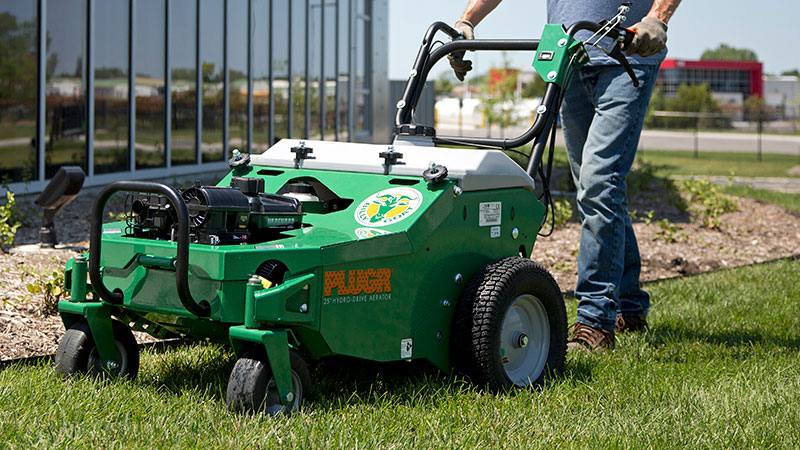 Crews performing aeration should take care to survey the area and remove any obstacles or hazards. (Photo: Billy Goat)