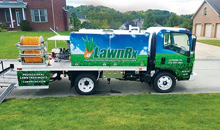 On clients' lawns, LawnRx uses a coated fertilizer with a 40-50 percent controlled-release blend. (Photo: LawnRx)